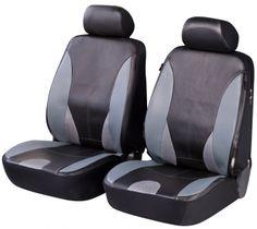 ZIPP IT Deluxe Sporting Auto Sitzbezüge aus Kunstleder für Vordersitze mit Reissverschluss System.