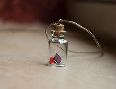 Book Love in a Tiny Bottle Pendant