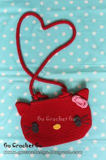 Crochet Sling Bags Welcome to Go Crochet Go! Today I would like to share the pattern of Hello Kitty Sling Bag with you. I hope you enjoy it. Love Crochet, Diy Crochet, Crochet Bags, Crochet Shell Stitch, Easy Crochet Projects, Crochet Handbags, Purse Patterns, Purses And Handbags, Hello Kitty
