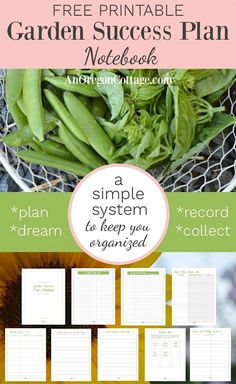 Plan, organize, and dream your way to garden success with this 12 page garden notebook- draw your garden, record, and journal your way to success. Oregon, Permaculture, Gardening For Beginners, Gardening Tips, Gardening Supplies, Garden Journal, Low Maintenance Garden, Pallets Garden, Pallet Gardening