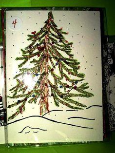 Hand drawn tree greeting card
