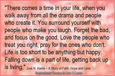 Absolutely true. Making changes in my life, starting with getting rid of people who aren't worth my time (i.e. KP)