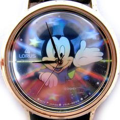 VINTAGE LORUS MICKEY MOUSE Sun Rays Stars HALOGRAM Mens Womens Wristwatch WATCH $135 ... we sell more VINTAGE MICKEY MOUSE WATCHES at http://www.TropicalFeel.com
