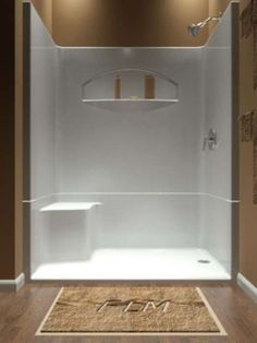 Inconceivable Fiberglass shower remodeling glass doors ideas,Small shower remodel rock and Shower remodel diy river rocks tips. Fiberglass Shower Enclosures, Bathroom Shower Enclosures, Shower Tub, Shower Stalls, Master Shower, Dream Shower, Master Bathroom, Basement Bathroom, Wainscoting Bathroom