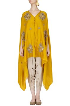 Yellow Dohti Pant