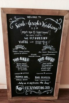 Chalkboard Wedding Program 23x35 Rustic by ChalkFullofLove