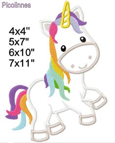 Unicorn Fairy Tale M2M fabric Machine Applique Design Embroidery Pattern 4x4 5x7 6x10 7x11 INSTANT DOWNLOAD by PicolinnesEmbroidery on Etsy https://www.etsy.com/listing/220291935/unicorn-fairy-tale-m2m-fabric-machine