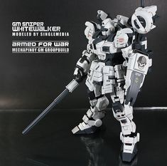 """ughhhhhh  this makes me feel so insecure about my gunpla  1/100 GM Sniper """"Whitewalker"""""""