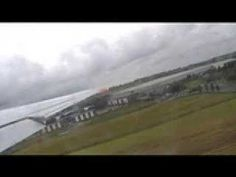 Take-off from Leeds Bradford Airport in a Spanair MD 83