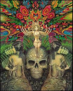 Mind Garden Goddess Art 16x20 Poster Print Gypsy Psychedelic Art