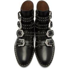 263b2dd1ee887 Givenchy - Black Elegant Line Boots Bottines Cuir Femme, Bottes, Chaussures  Femmes, Sangle