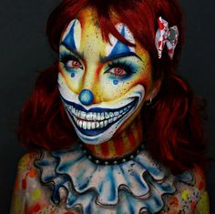 Clown makeup look by @ellie35x