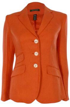 Lauren Ralph Lauren Women's Three Pocket Linen Blazer