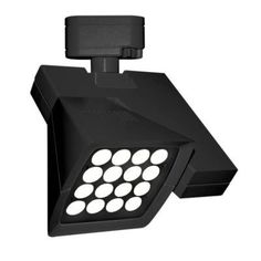 WAC Lighting Logos 16 Light 40W 2700K Elliptical LED Track Head Finish: Black, Track Collection: Lightolier Series