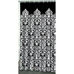 Waverly Essence Black Shower Curtain