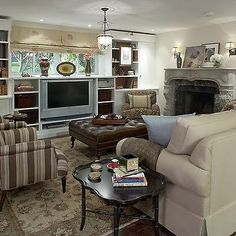 Candice Olson Living Rooms- Transitional, basement, Candice Olson
