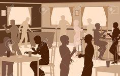 Risultati immagini per ombre persone bar