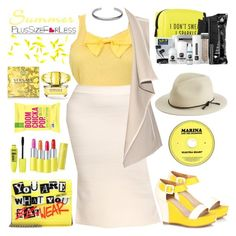PlusSizeF♡rLess by plussizeforless on Polyvore featuring polyvore fashion style Vince Jimmy Choo Maison Margiela rag & bone Versace Pinch Provisions clothing yellow plussizeforless