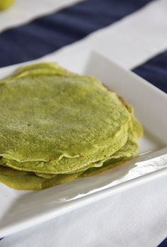 HEALTHY green lemon crepes for St. Patrick's Day!