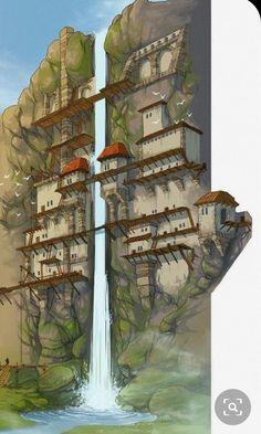 Fantasie Inspiration: Foto – # Check more at welt.vasepi… - Minecraft, Pubg, Lol and Fantasy Places, Fantasy Map, Fantasy Artwork, Fantasy Village, Fantasy Town, Fantasy House, Architecture Minecraft, Minecraft Buildings, Minecraft Banner Designs