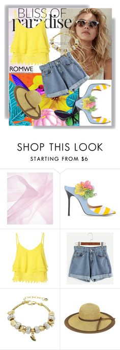 """""""Romwe"""" by loveliest-back ❤ liked on Polyvore featuring Giannico and Glamorous"""