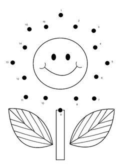 free online printable kids games flower dot to dot