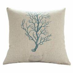 """Amazon.com - MagicPieces Cotton and Flax Ocean Park Theme Decorative Pillow Cover Case A 18"""" x 18"""" #ocean #beach #sea #print #blue #Voyage #pillow #homedecor #pillow $16.99"""