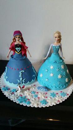 Elsa and Anna  cakes