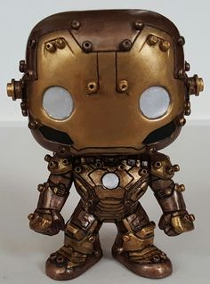 """Not a big """"Custom Funko Pop"""" fan, but these 3 custom SteamPunk Pops are exceptionally good. Custom Pop Figures, Pop Custom, Custom Funko Pop, Pop Vinyl Figures, Funko Pop Vinyl, Stan Lee Funko Pop, Pop Goes The Weasel, Pop Figurine, Cool Pops"""
