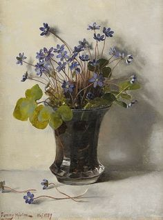 art-and-things-of-beauty:  Fanny Hjelm (1858-1944) - A glass with flowers, 1889.