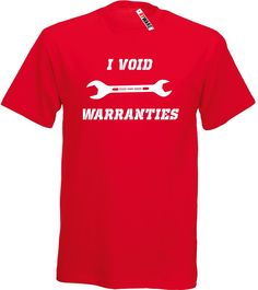 I Void Warranties Ryware T-Shirt only £9.49 at Ryware!