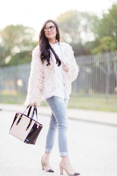 Pink fur coat Moda - Crímenes de la Moda