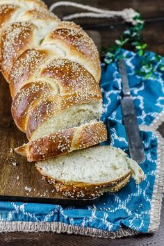 Easy challah bread recipe & tutorial with photos | TheMediterraneanDish.com Anyone can make this delicious, satisfying braided loaf of bread; enriched w/ eggs and topped with sesame seeds. Perfect for dinner, sandwiches, or French toast. Keeps well. See the tutorial on TheMediterraneanDish.com