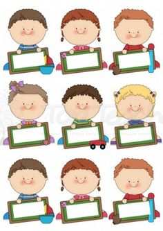 Print and use these name tags around your classroom. Classroom Labels, Classroom Decor, Nametags For Kids, School Labels, School Bulletin Boards, Class Decoration, Name Tags, Blackboards, Kid Names