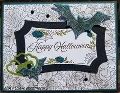 HALLOWEEN Handmade Card Kit, Set of 4, Stampin Up Hallows Night Magic, Bats, #HandmadeStampinUp #Halloween Halloween Cards, Happy Halloween, Card Kit, Greeting Cards Handmade, Stampin Up, Handmade Items, Magic, Bats, Night
