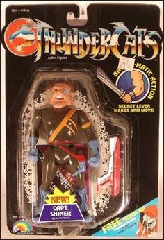 """Check out the deal on """"OUT OF STOCK"""" Thundercats - Captain Shiner (MOC) Bilingual card at Action Toys and Collectables Thundercats Action Figures, Thundercats Toys, Retro Cartoons, Cartoon Toys, Custom Action Figures, Vinyl Figures, Retro Toys, Vintage Toys, 80 Toys"""