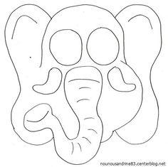 activité manuelle : le masque éléphant Maria Jose, Elephant, Lion, Spring, Zoo Nursery, Leo, Elephants, Lions