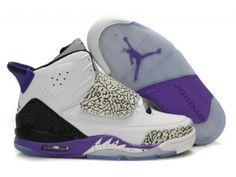 Air Jordan Son Of Mars mens basketball shoe - White/Grey/Purple
