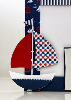 Detalhe do porta retrato personalizado no tema marinheiro
