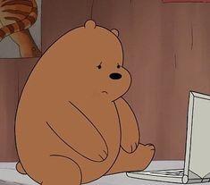 Why does that make mama bear 😔? Bear Wallpaper, Wallpaper Backgrounds, Iphone Wallpaper, Cartoon Icons, Bear Cartoon, Bear Meme, We Bare Bears Wallpapers, Cartoon Profile Pics, We Bear