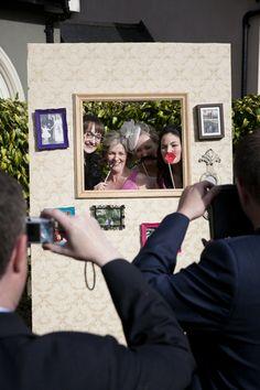 diy real wedding photobooth idea