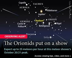 The Orionid Meteor Showers: October 20-21, Please SHARE this Rare Experience!