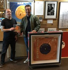 #SuperSizeArt Changeover time #Fame #Bowie #David Bowie artist #MorganHowell with #MichaelSouthwell October 2015 #RollingStones #Satisfaction
