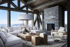 Classy Living Room, Cute Living Room, Boho Living Room, Beautiful Living Rooms, Living Room Decor, Modern Cabin Interior, Interior Design, Warehouse Living, Suite Principal