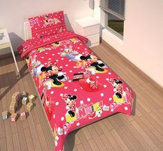 Disney Dekbedovertrek - Minnie Mouse #disney #minniemouse  #dekbedovertrek #kinderdekbed #kinderkamer