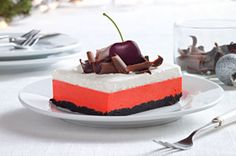 When it comes to desserts, layers are always in fashion! Our layered dessert recipes include parfaits, tiramisus, layer cakes, chocolate treats—and more. Chocolate Layer Dessert, Chocolate Wafer Cookies, Chocolate Treats, Chocolate Cherry, Cherry Desserts, Layered Desserts, Just Desserts, Dessert Recipes, Dessert Ideas