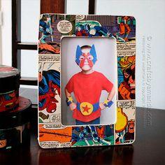 10 ideias criativas de presentes para o Dia dos Pais - Tempojunto | Aproveitando cada minuto com seus filhos Adult Crafts, Diy And Crafts, Crafts For Kids, Marco Diy, Comic Book Frames, Comic Books, Unique Picture Frames, Diy Foto, Make Your Own