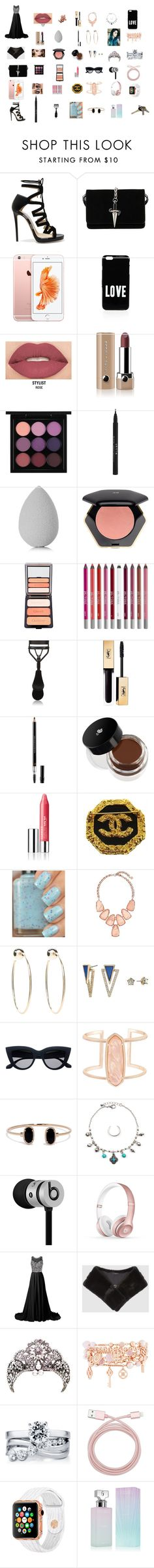 """""""My Anniversary With My Boyfriend"""" by remiwindsor on Polyvore featuring Jimmy Choo, Cesare Paciotti, Givenchy, Smashbox, Marc Jacobs, MAC Cosmetics, Stila, beautyblender, H&M and CARGO"""