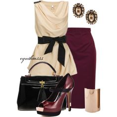 Plum and Soft Pink, created by cynthia335 on Polyvore