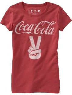 Graphic+Tees+for+Teen+Girls | Girls Coca-Cola® Graphic Tees - Old Navy - Kids Wear - T-Shirt - Girl